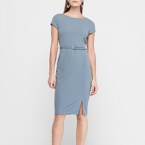 Blue Belted Express Sheath Dress